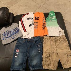 Boys Tommy Hilfiger Shirts Jean Cargo Shorts 6/7 S